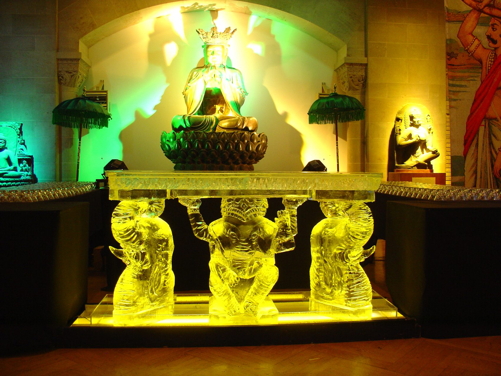 Elephant carved ice bar