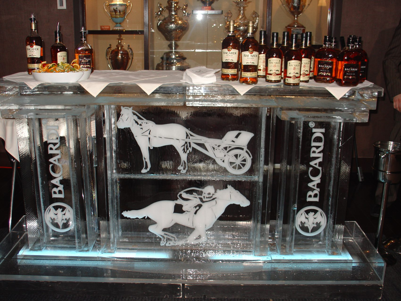 Bacardi Ice bar with horse races