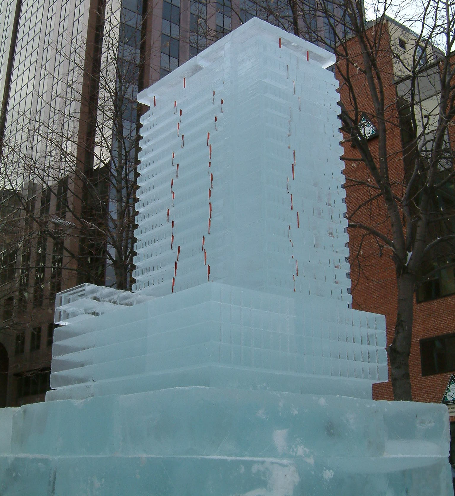 Building made out of ice (daytime view)