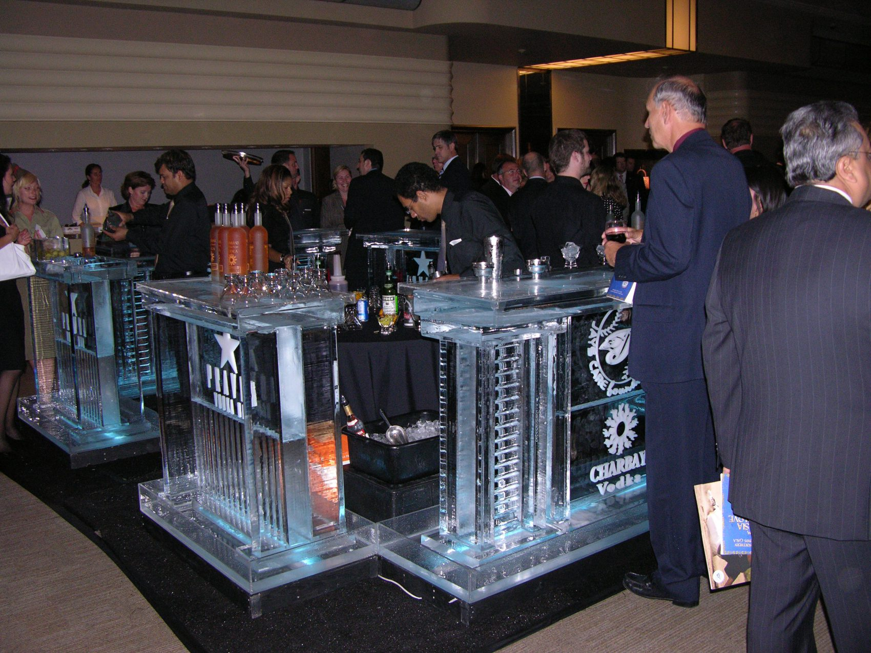 Pravda Vodka ice bar full view