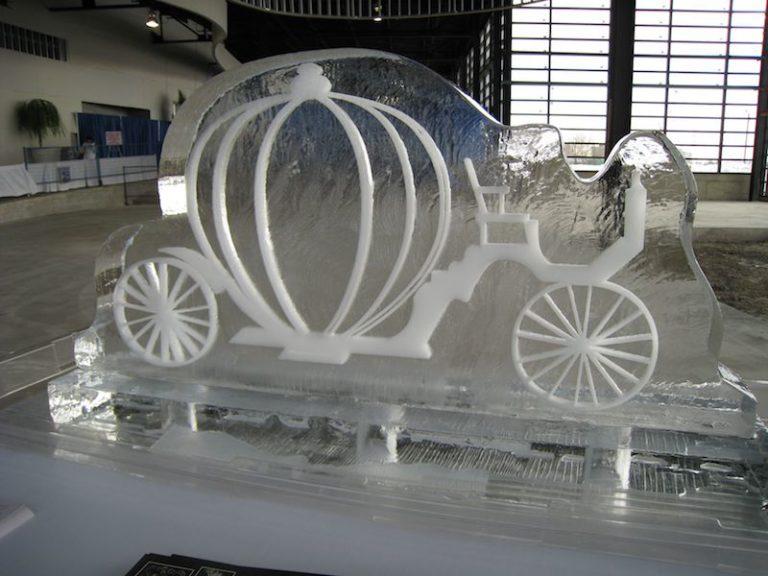 Pumpkin Ice Sculpture