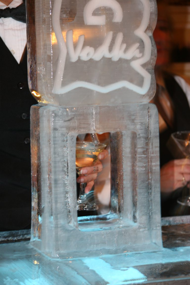 Iceberg ice luge close up