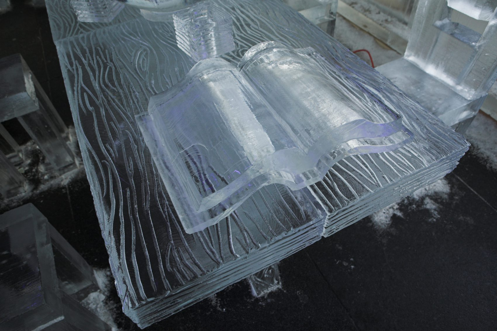 Book made out of ice