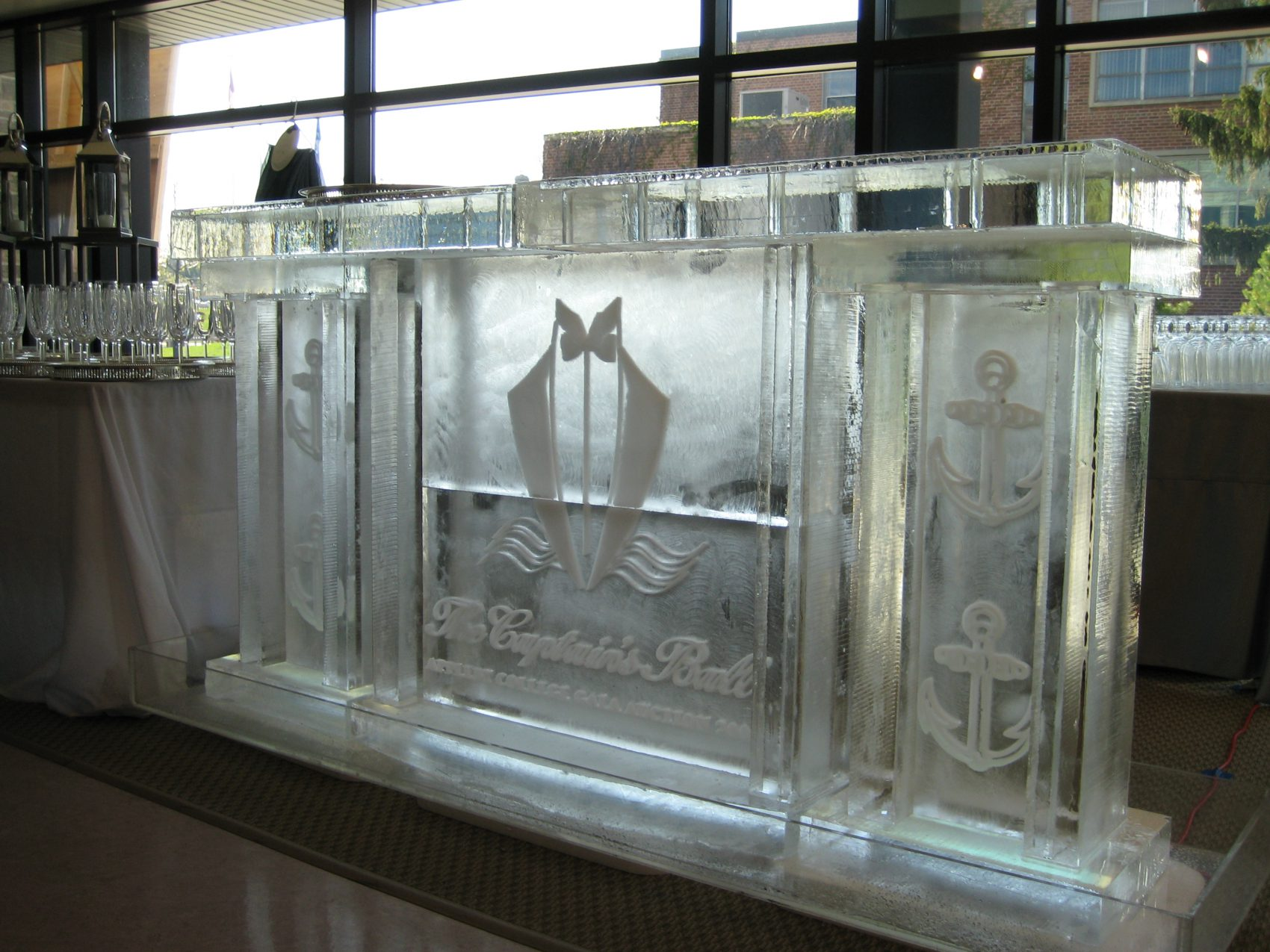 The captains ball ice bar side angle