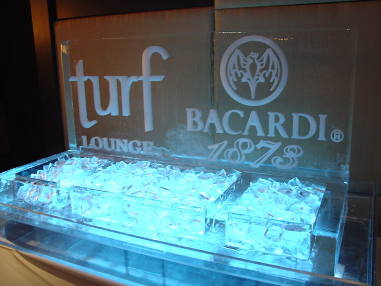 Turf Bacardi Lounge Presentation Ice Sculpture